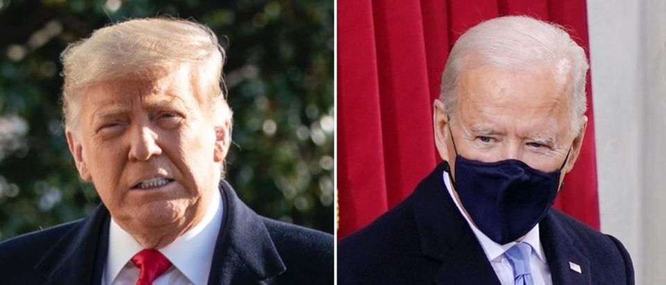 """The Washington Post has no """"plans"""" to move forward with a fact-checking database for President Joe Biden, as it had for former President Donald Trump. (Drew Angerer/Getty Images, Drew Angerer/Getty Images)"""