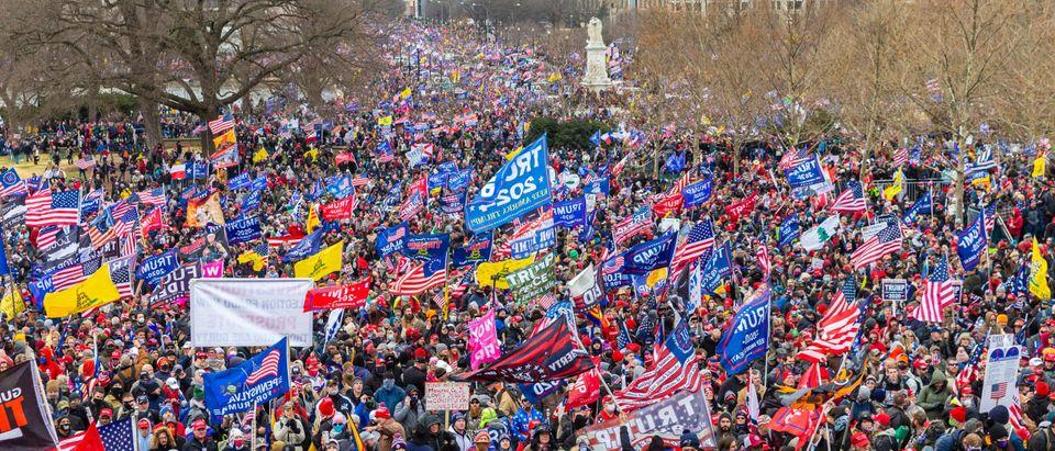Washington,,Dc,-,January,6,,2021:,Pro-trump,Protesters,Rally,Around