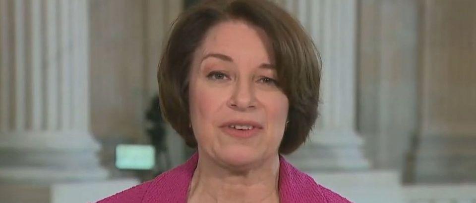 Amy Klobuchar says Trump is 'done' as a force in GOP politics (Fox News screengrab)