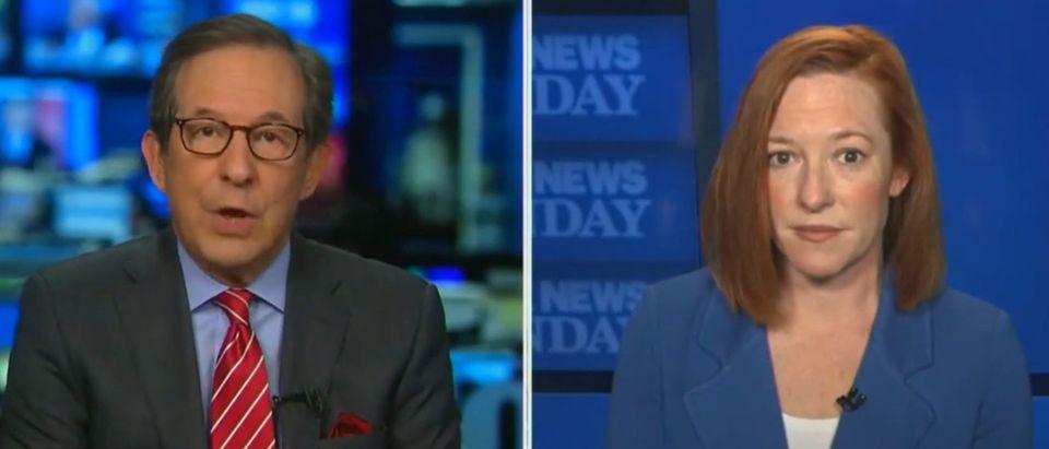 Chris Wallaces presses Psaki on border security (Fox News screengrab)