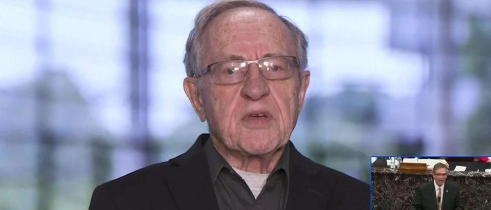 Dershowitz rips Trump attorney (Newsmax TV screengrab)