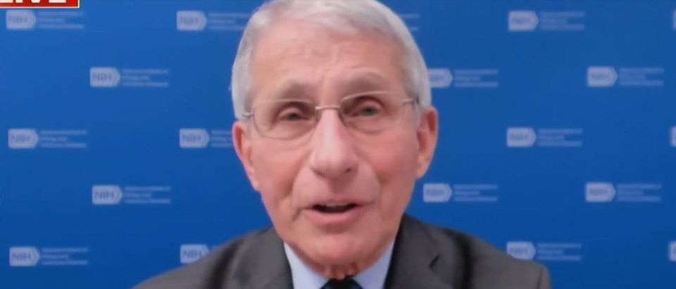 Fauci says masks can come off when virus is not a threat (Fox News screengrab)