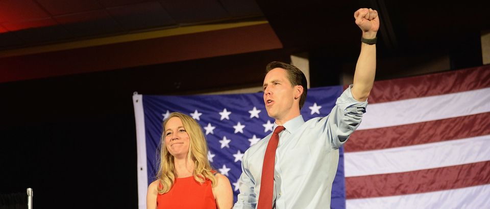 GOP Candidate For Senate In Missouri Josh Hawley Attends Election Night Gathering In Springfield