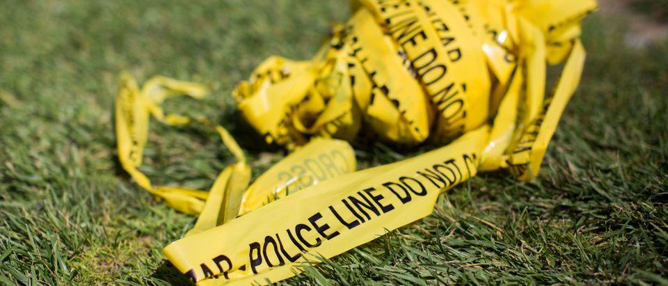 Crime police tape stabbing