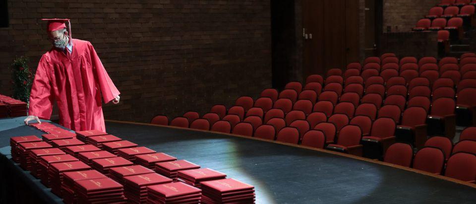 Illinois High School Holds Socially Distanced Graduation During Coronavirus Pandemic