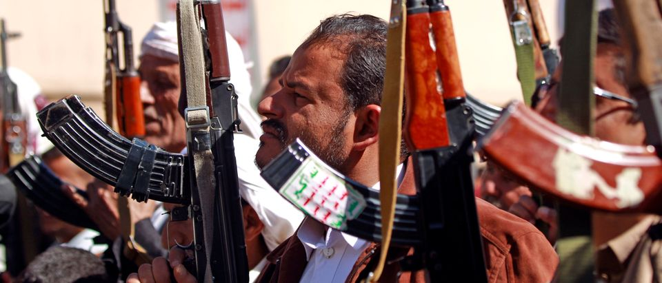 Supporters of Yemen's Huthi movement