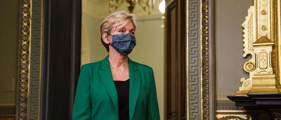 Vice President Harris Swears-In Jennifer Granholm As Energy Secretary
