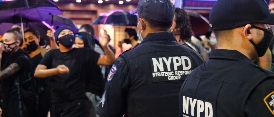 Black Lives Matter Protest Held In Times Square Over Latest Police Killing Video In Rochester, NY