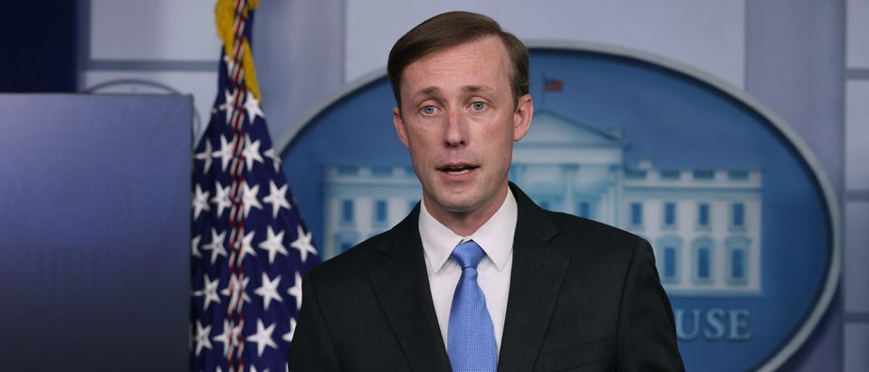 White House National Security Advisor Jake Sullivan Joins Press Secretary Jen Psaki At Daily Briefing