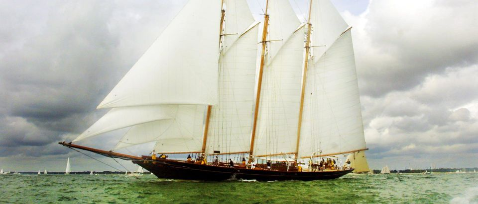 The Sea Cloud II, a clipper, chartered by The New