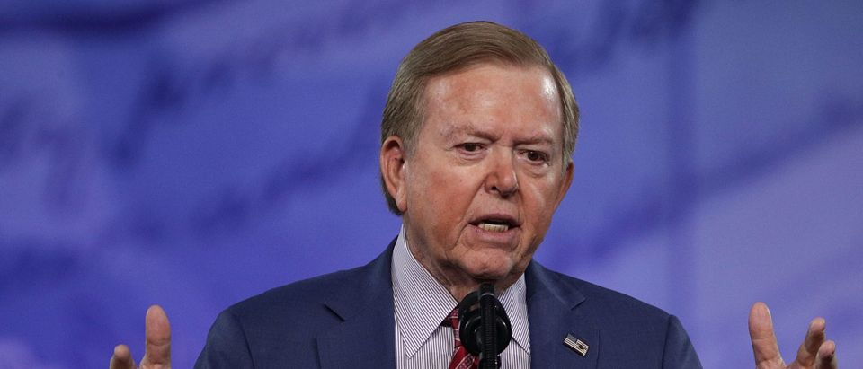 Lou Dobbs of Fox Business Network speaks during the Conservative Political Action Conference at the Gaylord National Resort and Convention Center February 24, 2017 in National Harbor, Maryland. (Alex Wong/Getty Images)