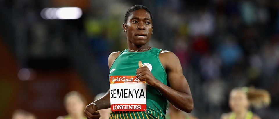 Caster Semenya of South Africa crosses the line to win gold in the Women's 1500 metres final during the Athletics on day six of the Gold Coast 2018 Commonwealth Games at Carrara Stadium on April 10, 2018 on the Gold Coast, Australia.