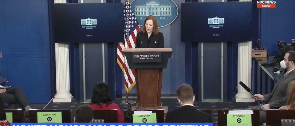White House Press Secretary Jen Psaki. (Screenshot/NBC News)