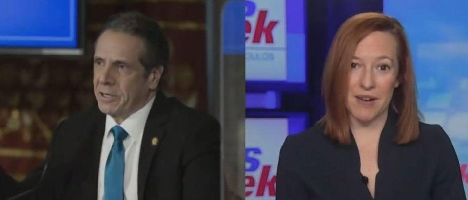 Jen Psaki dodges question from Jon Karl on Cuomo (ABC screengrab)