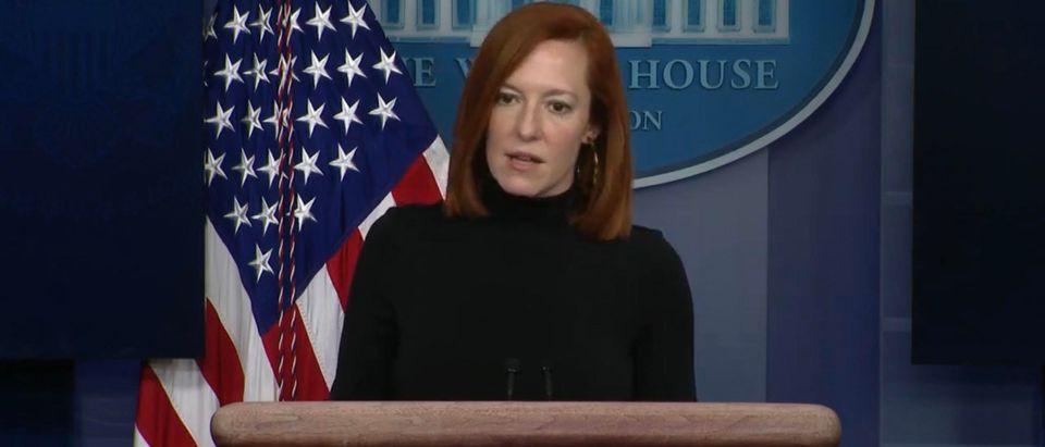 White House Press Secretary Jen Psaki. (Screenshot/YouTube/Washington Post)