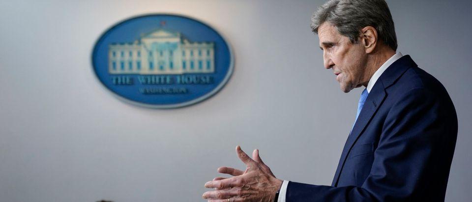 John Kerry climate change Biden private jet Iceland