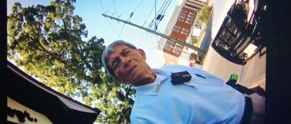Patrolman's Bodycam Filming Hamilton Police Chief Gene Allmond