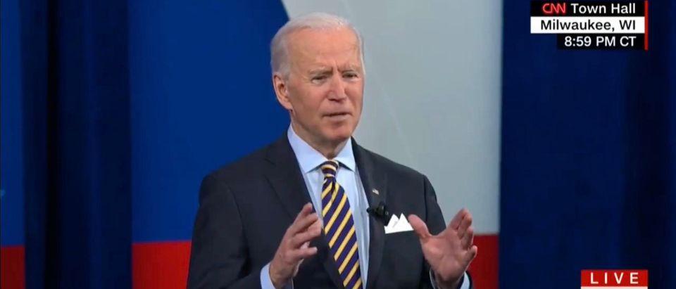 President Joe Biden. (Screenshot/Twitter/CNN)