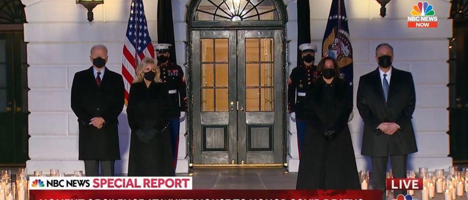 President Joe Biden and Vice President Kamala Harris. (Screenshot/YouTube/NBC News)