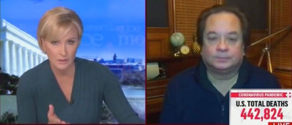 Mika Brzezinski and George Conway (Screenshot/MSNBC)