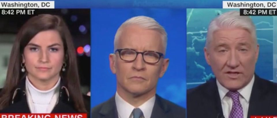 Kaitlan Collins, Anderson Cooper, and John King (Screenshot/CNN)