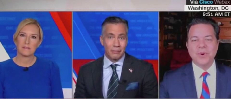 Poppy Harlow, Jim Sciutto, and John Avlon (Screenshot/CNN)