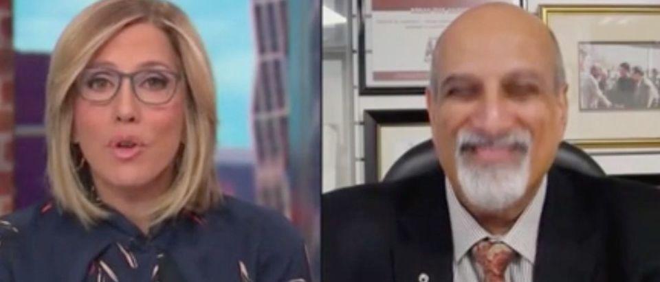 "Alisyn Camerota Speaks with Salim Abdool Karim on ""New Day."" Screenshot/CNN"