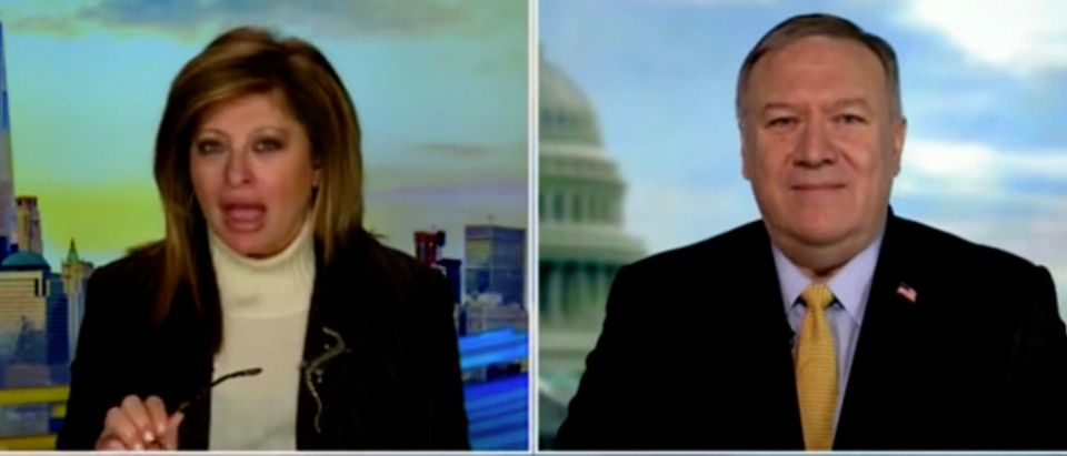 Maria Bartiromo and Mike Pompeo (Screenshot/Fox Business)