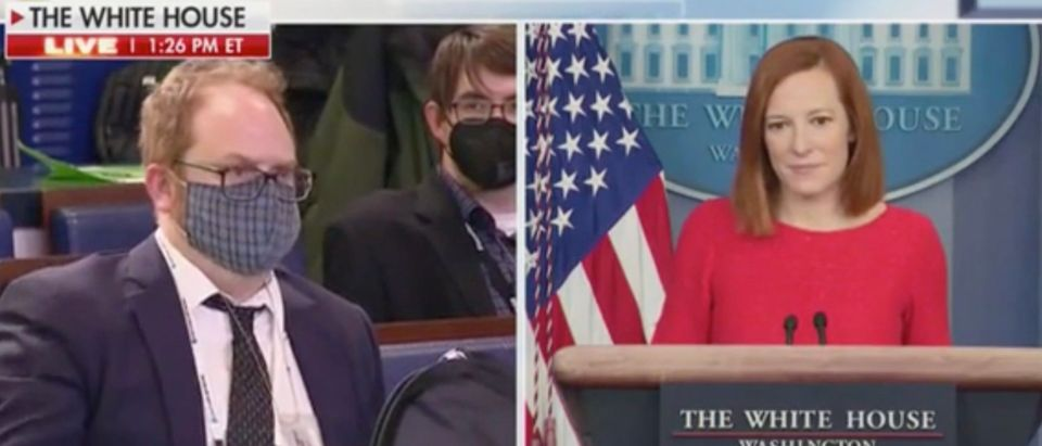 Joey Garrison and Jen Psaki (Screenshot/Fox News)