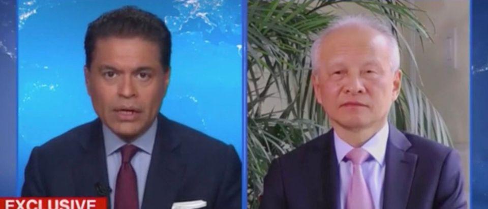 Fareed Zakaria and Ambassador Cui Tiankai (Screenshot/CNN)