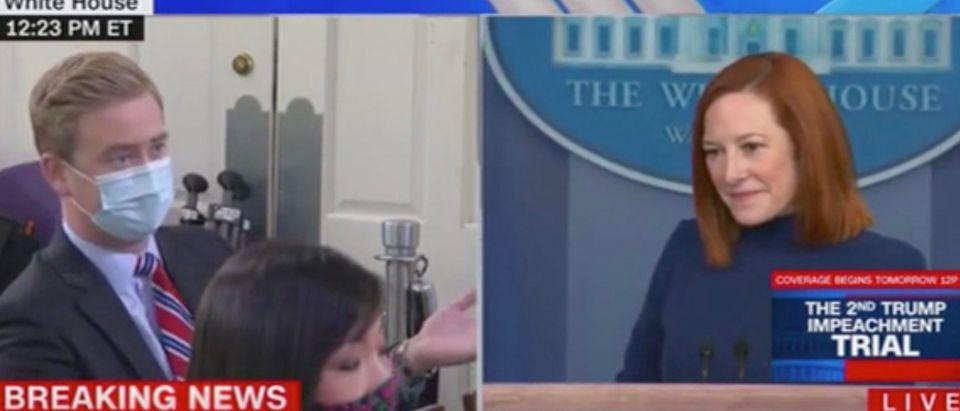 Peter Doocy and Jen Psaki (Screenshot/CNN)