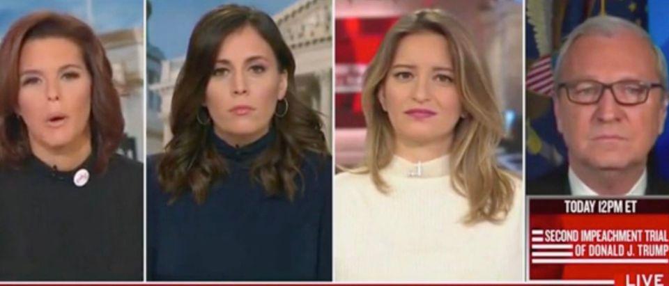 Stephanie Ruhle, Hallie Jackson, Katy Tur, and Sen. Kevin Cramer (Screenshot/MSNBC)