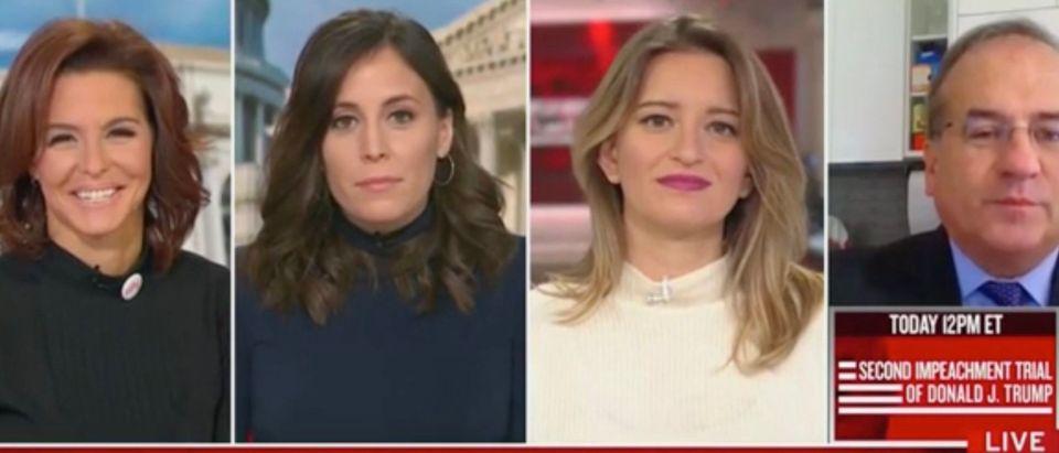 Stephanie Ruhle, Hallie Jackson, Katy Tur, and Robert Ray (Screenshot/MSNBC)