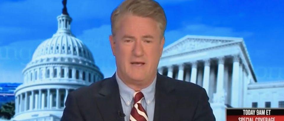 "Joe Scarborough hosts ""Morning Joe."" Screenshot/MSNBC"