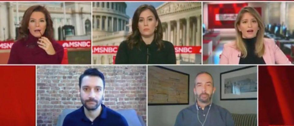 Stephanie Ruhle, Hallie Jackson, Katy Tur, Ben Collins, and Todd Frankel (Screenshot/MSNBC)