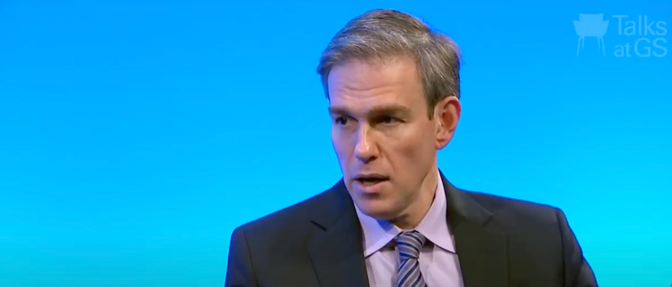 The NYT wouldn't publish a column from Bret Stephens that was critical of the newspaper. (Screenshot YouTube Goldman Sachs, https://www.youtube.com/watch?v=nN-sDb_TX5w)