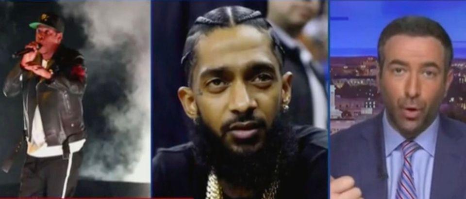 Jay-Z, Nipsey Hussle, and Ari Melber (Screenshot/MSNBC)