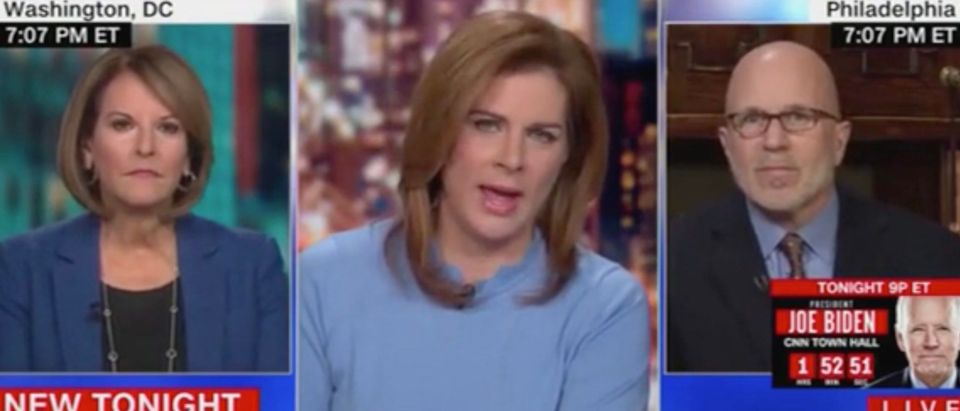 Gloria Borger, Erin Burnett, and Michael Smerconish (Screenshot/CNN)