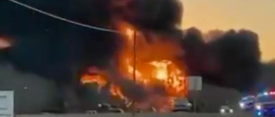 Texas Train Crash Explosion
