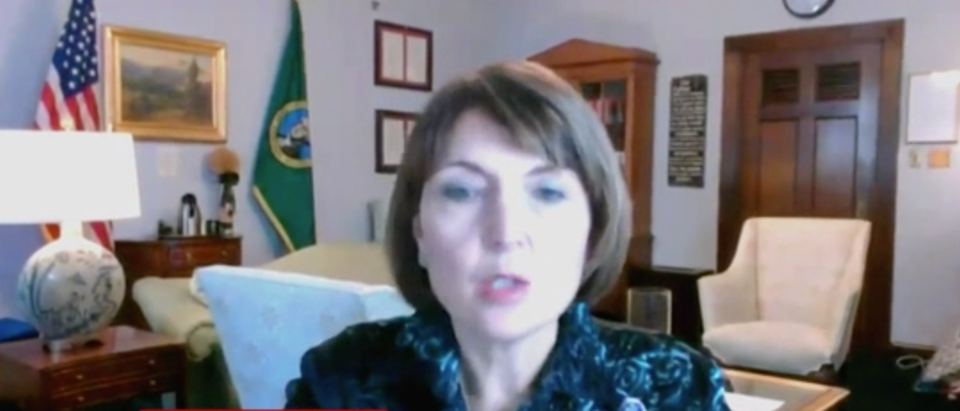Rep. Cathy McMorris Rodgers criticized House Democrats for attempts to censor conservative media. (Screenshot OAN)