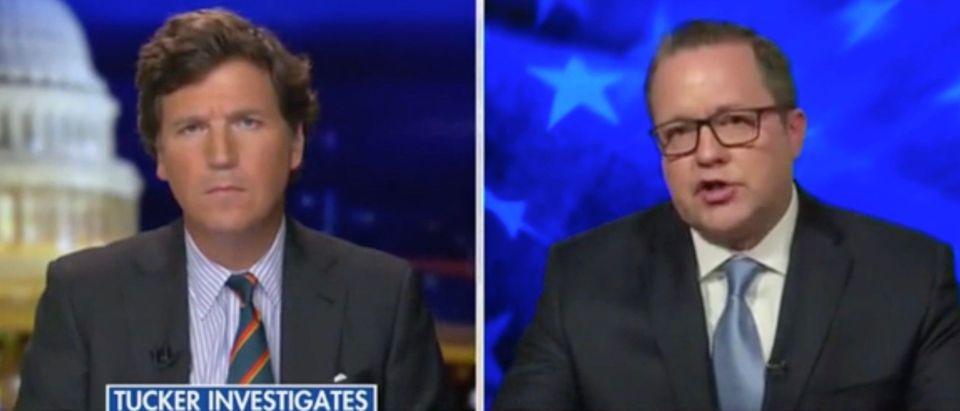 Tucker Carlson and Corey Stewart (Screenshot/Fox News)