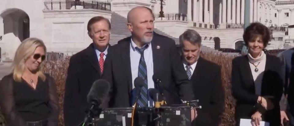 Members of the House Freedom Caucus (Screenshot/@emilyelarsen)