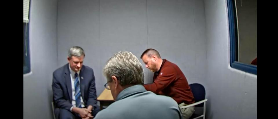 South Dakota Attorney General Jason Ravnsborg talks to investigators on Sept. 30 regarding the fatal Sept. 12 crash [Youtube/Screenshot/Public User South Dakota Department of Public Safety]