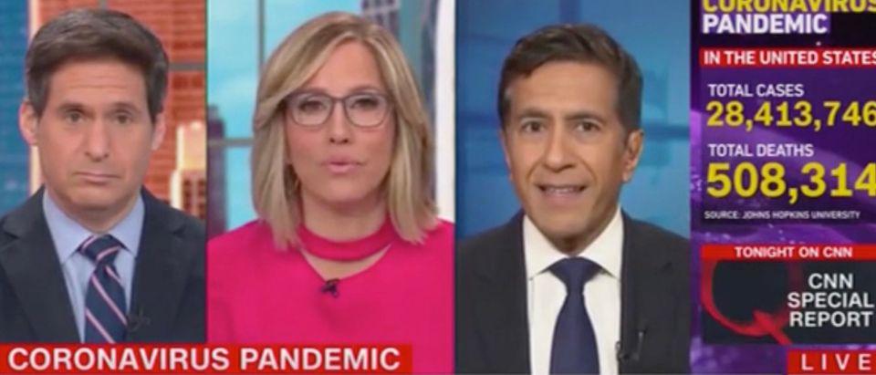 John Berman, Alisyn Camerota, and Sanjay Gupta (Screenshot/CNN)