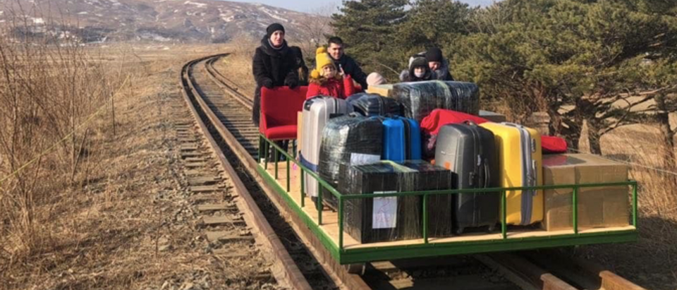 Russia North Korea rail car