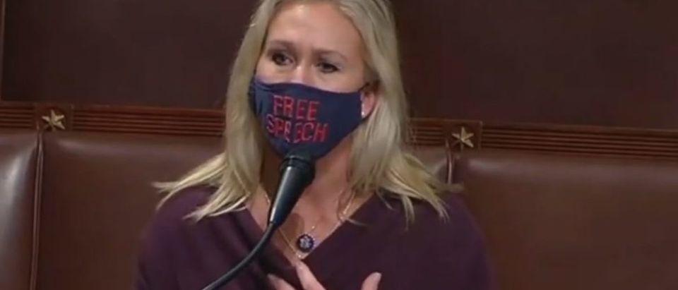 Screen Shot_Youtube_Rep Marjorie Taylor Greene_Floor Speech