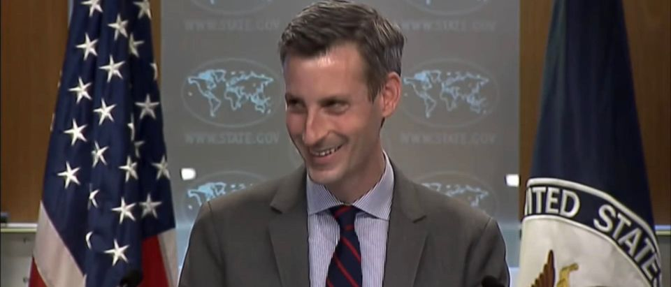 State Department Spokesman Ned Price. (Screenshot/YouTube)