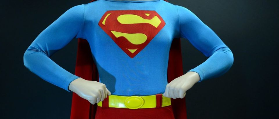 The Superman costume that was worn by Ch