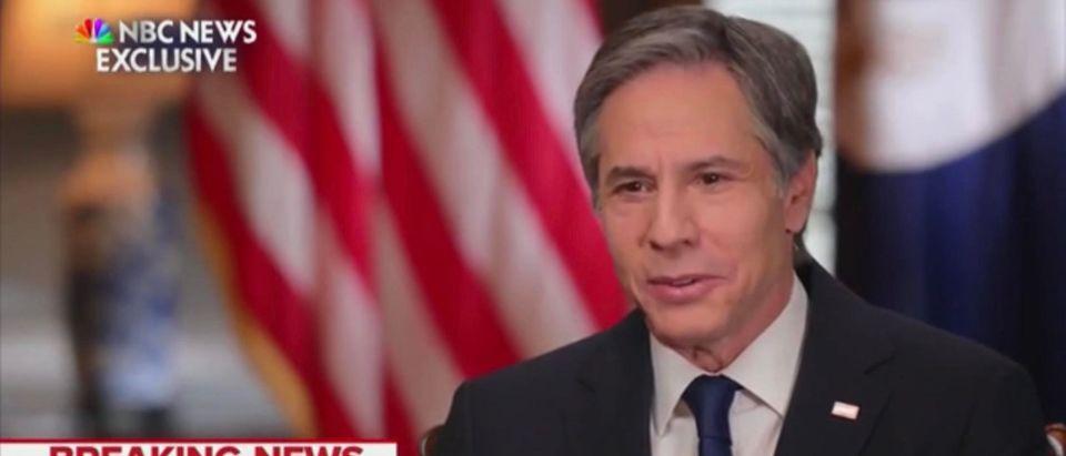 Secretary of State Tony Blinken. (Screenshot/MSNBC)