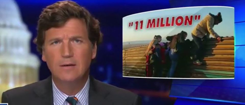 Tucker Carlson says claims of 11 million illegals is a lie (Fox News screengrab)